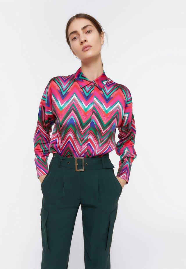 HEMD MIT ZICKZACK-MUSTER 00652253 - Button-down blouse - light pink