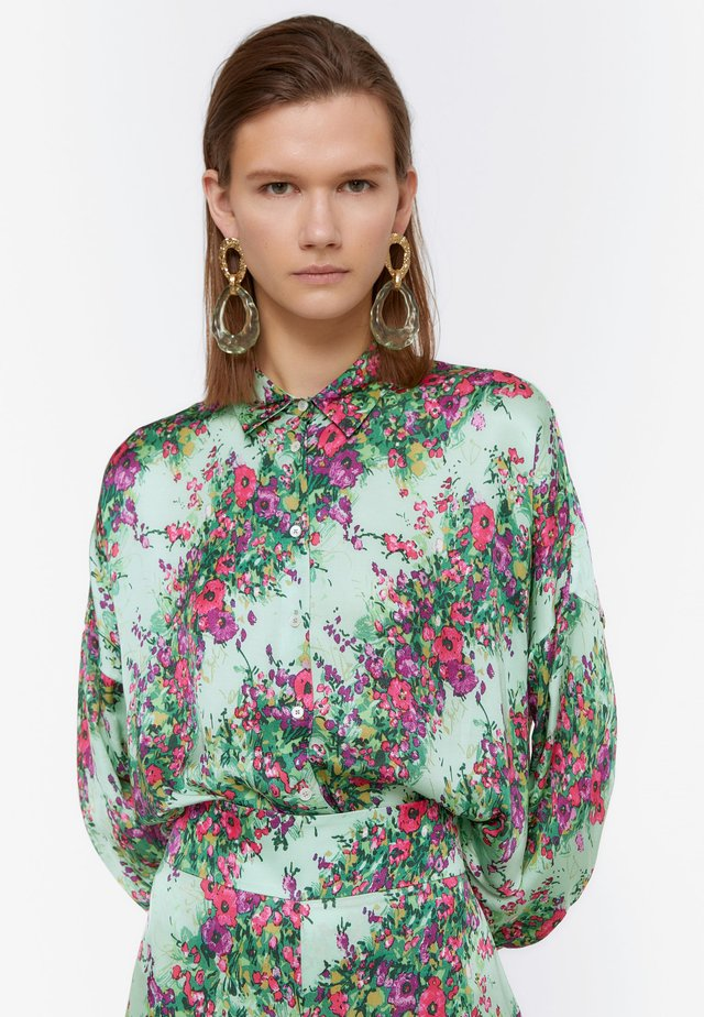 HEMD MIT BLUMENPRINT 00673253 - Button-down blouse - green