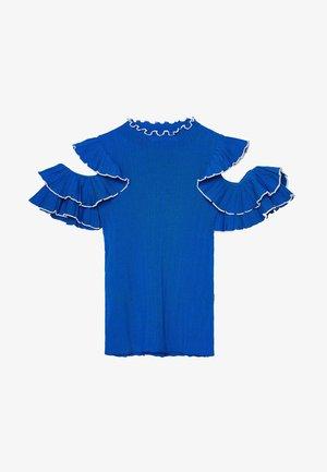 MIT VOLANTÄRMELN - Print T-shirt - dark blue