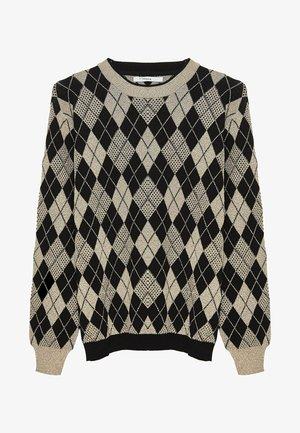 MIT RAUTENMUSTER - Sweter - black