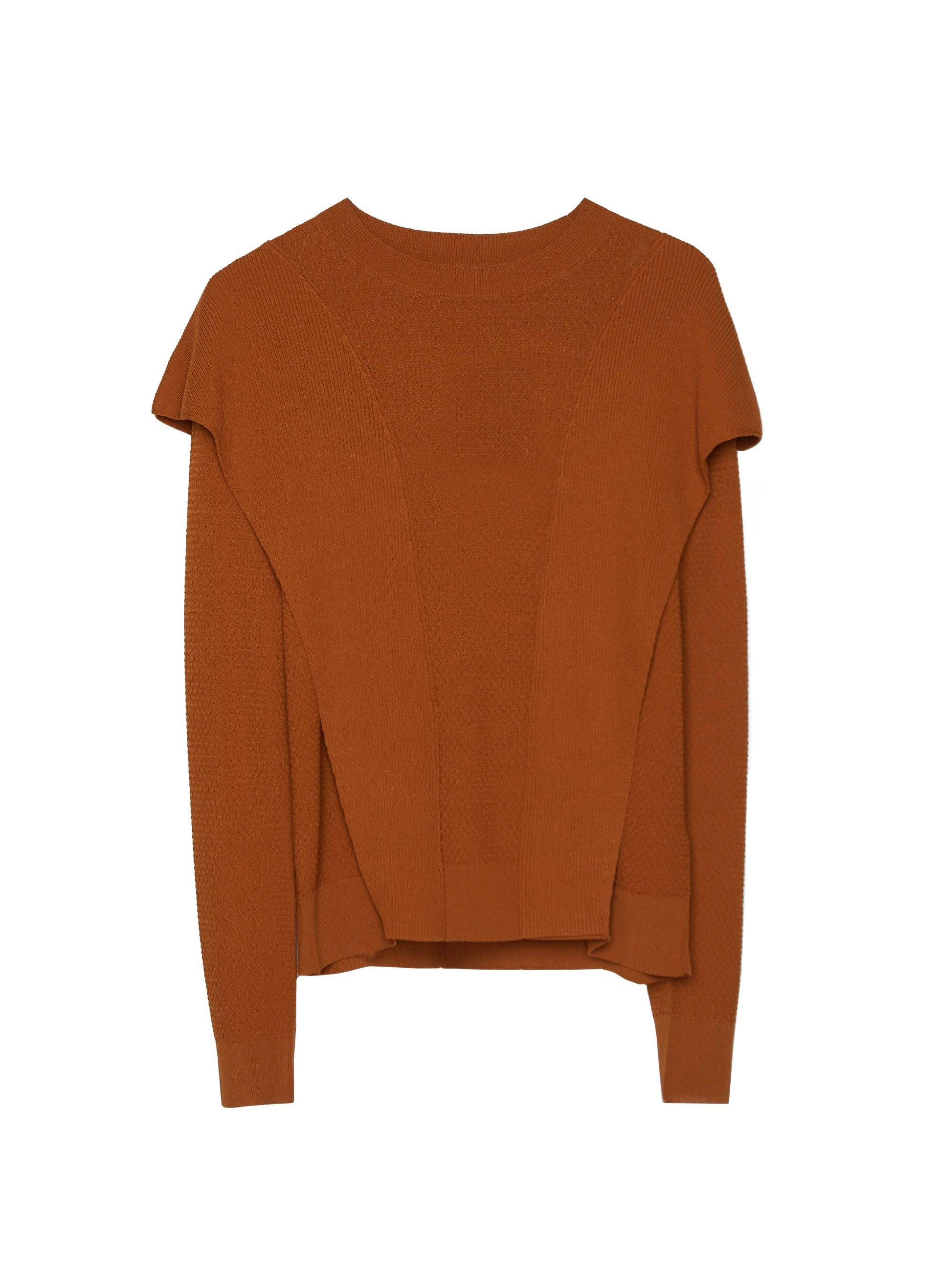 MIT SEITLICHEM DETAIL Sweter orange