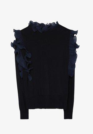 MIT VOLANTS  - Stickad tröja - black