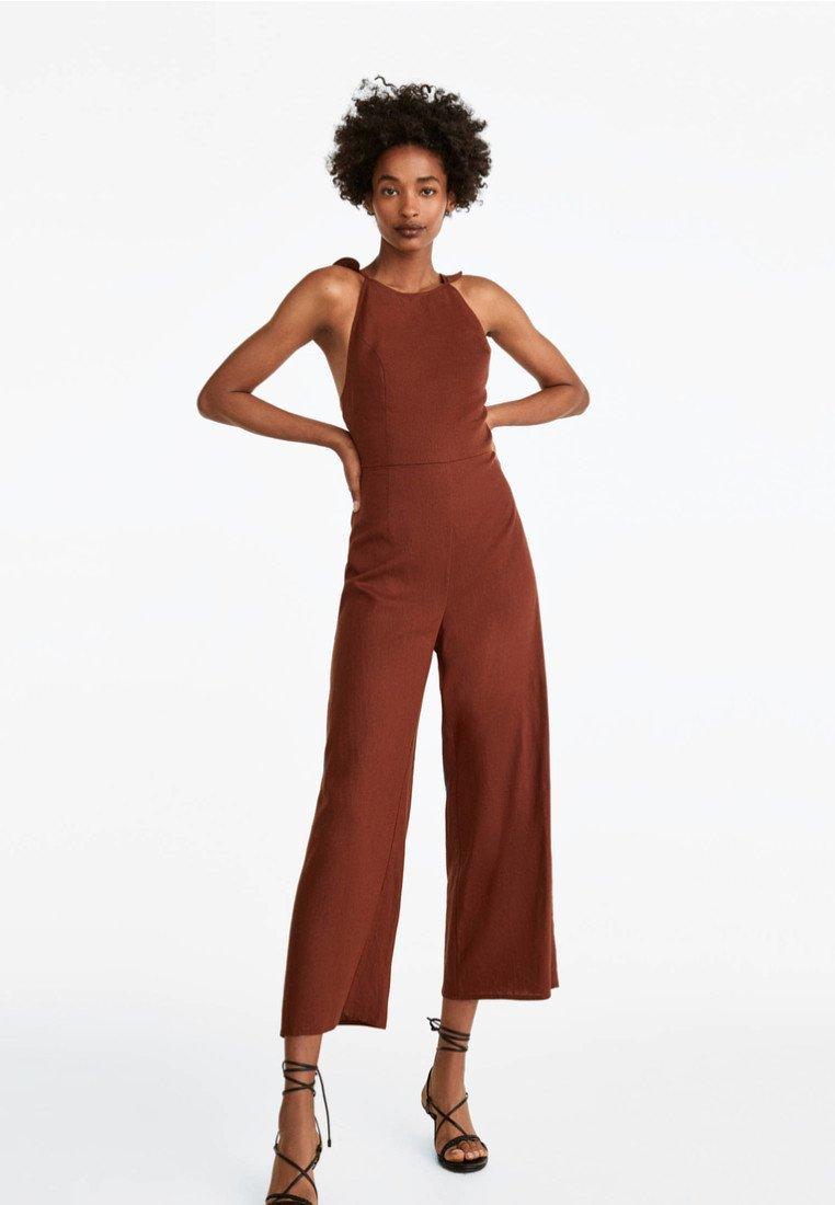 Uterqüe - Jumpsuit - brown