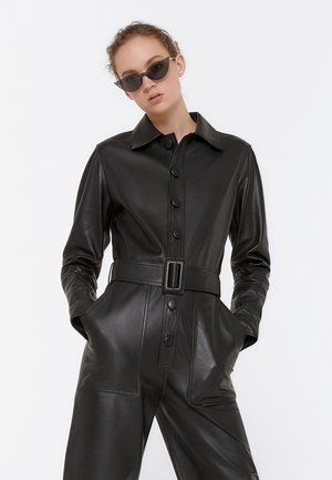 JUMPSUIT AUS LEDER 00202556 - Jumpsuit - black