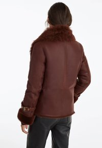 Uterqüe - Leather jacket - brown - 2