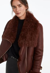 Uterqüe - Leather jacket - brown - 3