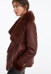 Uterqüe - Leather jacket - brown - 4