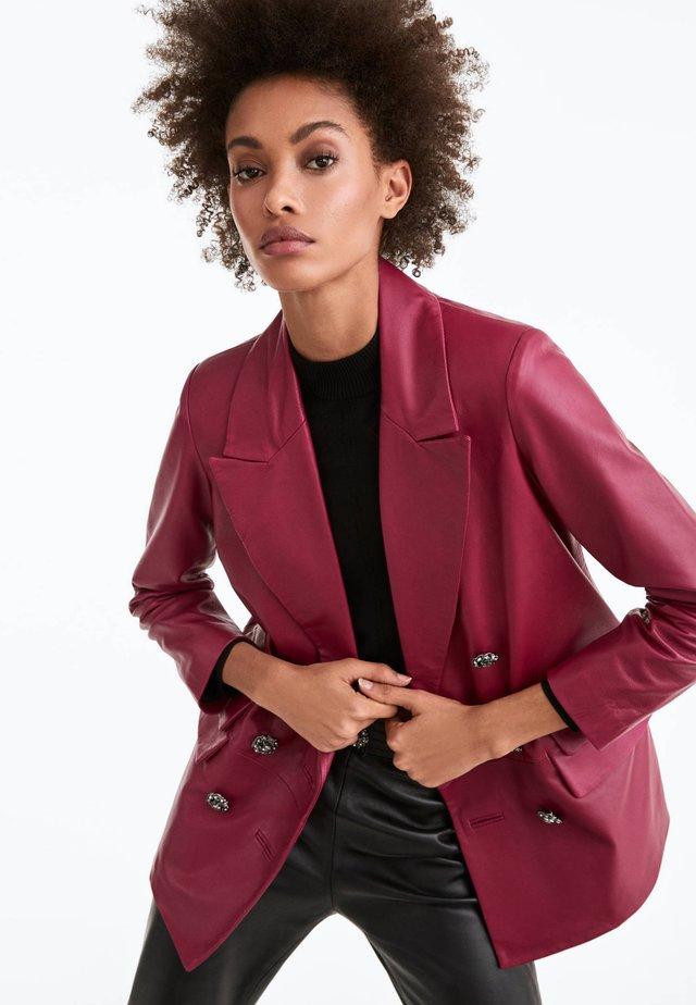 MIT KNÖPFEN  - Kurtka skórzana - neon pink