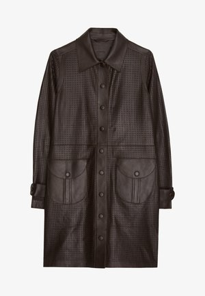 MIT STANZMUSTER - Short coat - brown