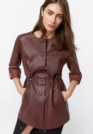 HEMDKLEID AUS LEDER 00663551 - Leather jacket - brown