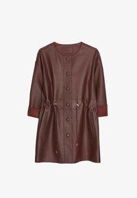 Uterqüe - HEMDKLEID AUS LEDER 00663551 - Leren jas - brown - 3