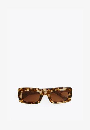 RECHTECKIGE BRILLE MIT ANIMAL-PRINT 03318850 - Okulary przeciwsłoneczne - brown