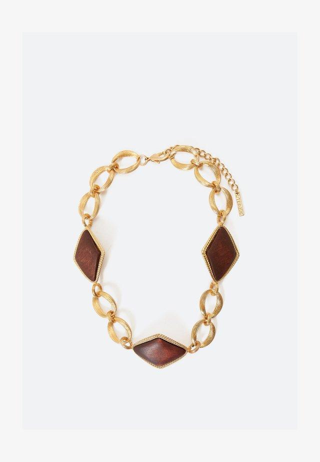 MIT RAUTEN AUS HOLZ - Necklace - gold