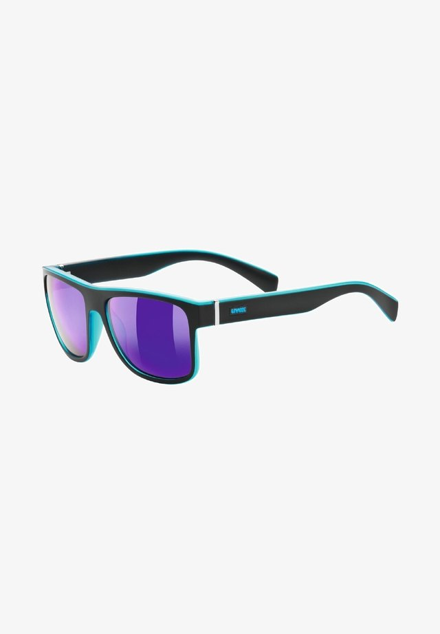 Sunglasses - black mat blue