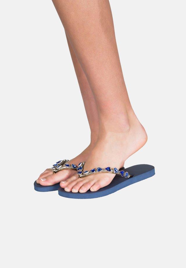 T-bar sandals - blue / navy blue