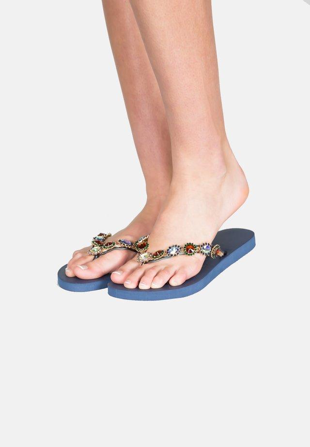 MONROE - T-bar sandals - navyblue