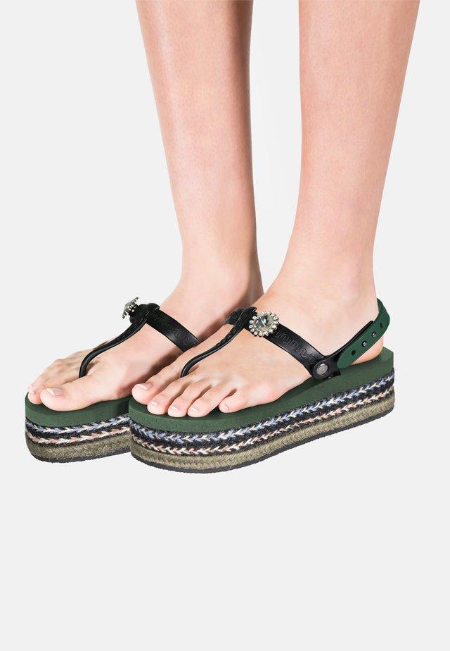 Sandały kąpielowe - armygreen