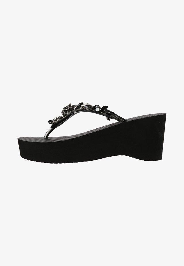 STELLA - T-bar sandals - black
