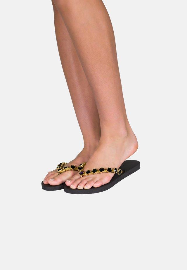 FLOWER - Sandały kąpielowe - black
