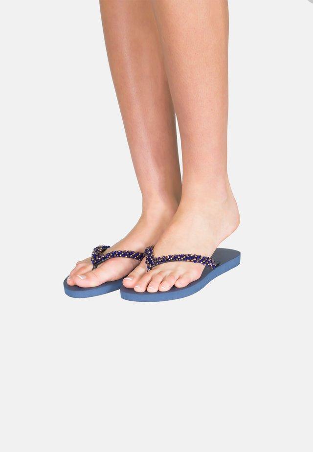 PRECIOUS CLASSIC - T-bar sandals - blue / navyblue