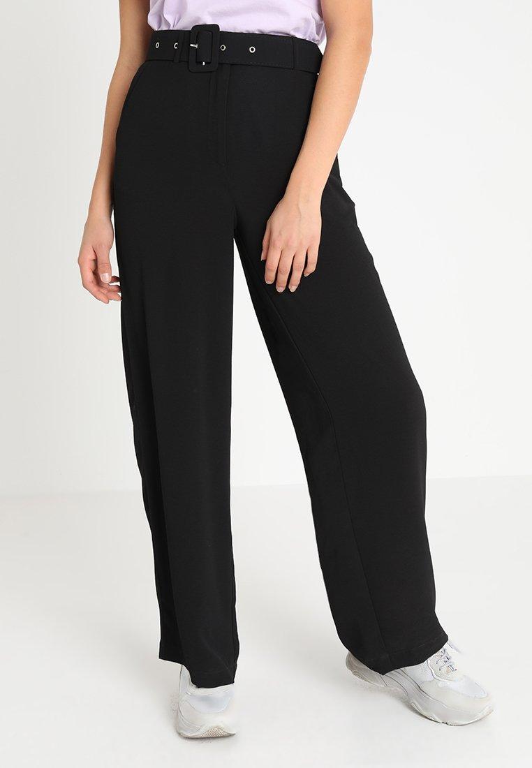 Vila - VIEIONA WIDE PANT - Trousers - black