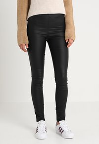 Vila - VICOMMIT COATED PLAIN - Legging - black - 0