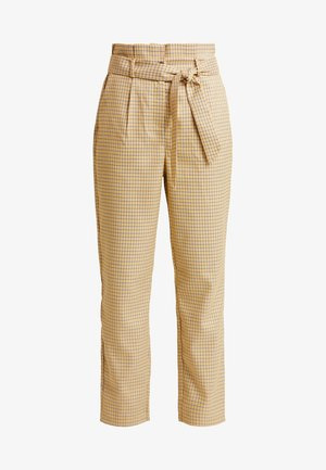 VIFAYLINN PANTS - Trousers - golden rod/black