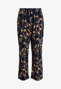 Vila - VIALETA PANTS - Trousers - navy blazer/golden - 3