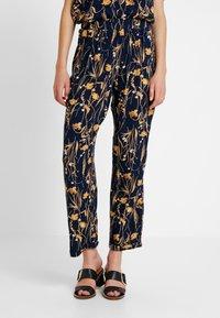 Vila - VIALETA PANTS - Trousers - navy blazer/golden - 0