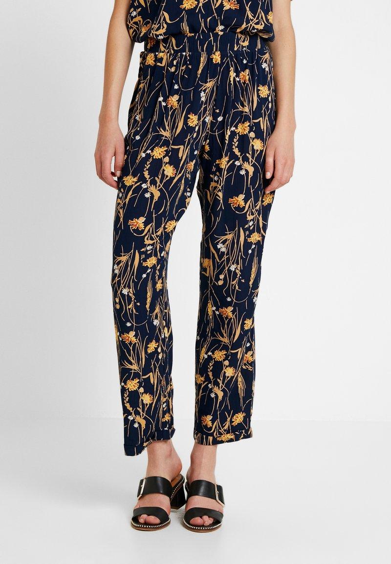 Vila - VIALETA PANTS - Trousers - navy blazer/golden