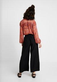 Vila - VIKAIRI WIDE PANTS - Trousers - black - 2