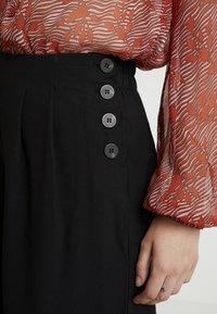 Vila - VIKAIRI WIDE PANTS - Trousers - black - 4