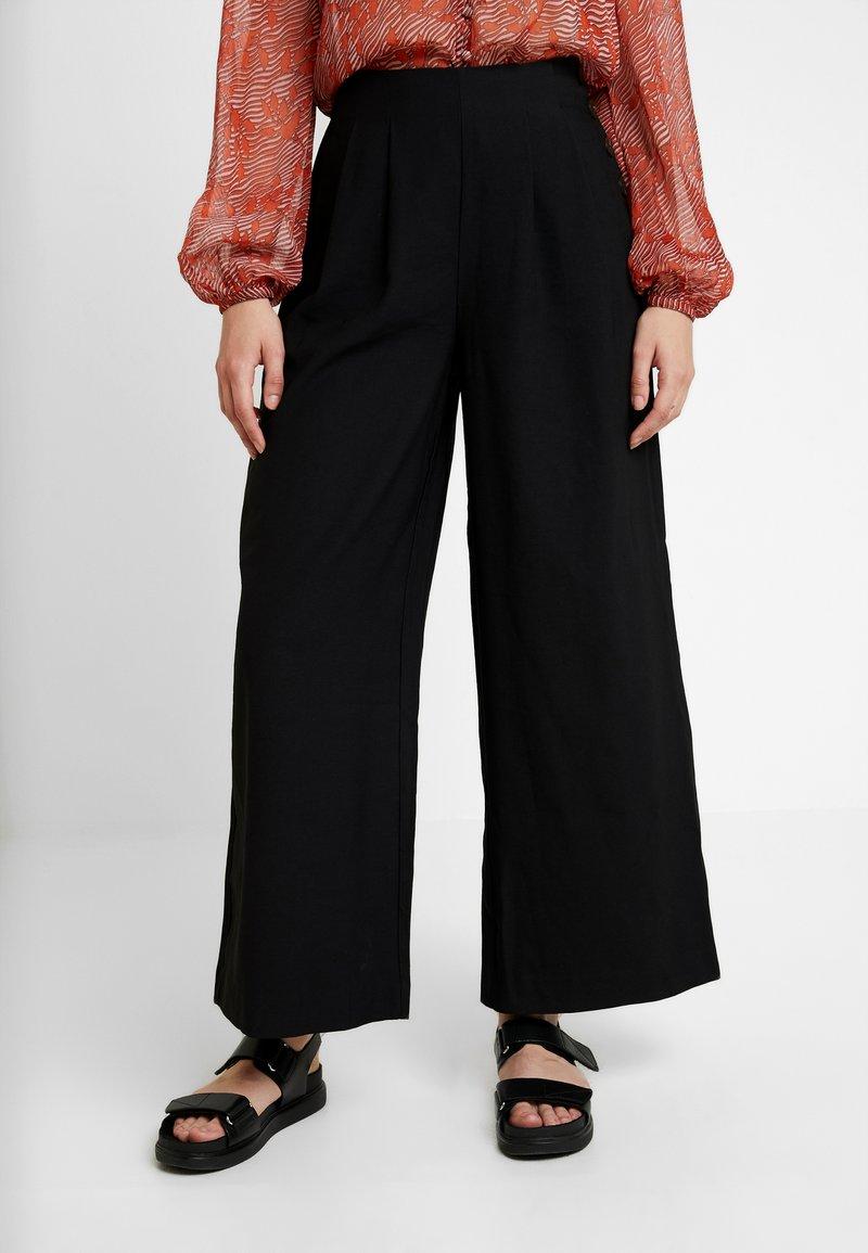 Vila - VIKAIRI WIDE PANTS - Trousers - black