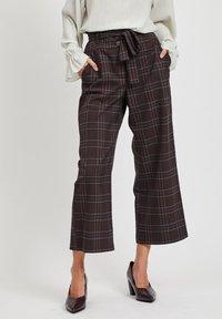Vila - Pantalon classique - dark brown - 0