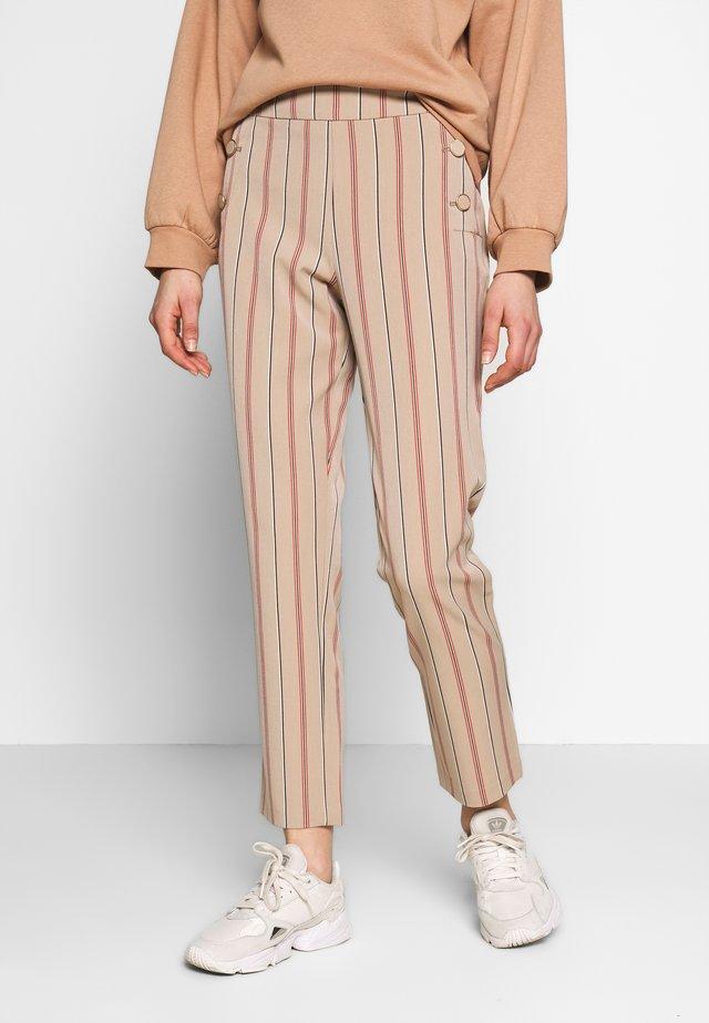 VIWILLOW STRIPE PANT - Trousers - brown