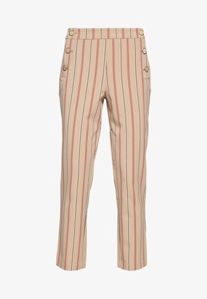 VIWILLOW STRIPE PANT - Kangashousut - brown