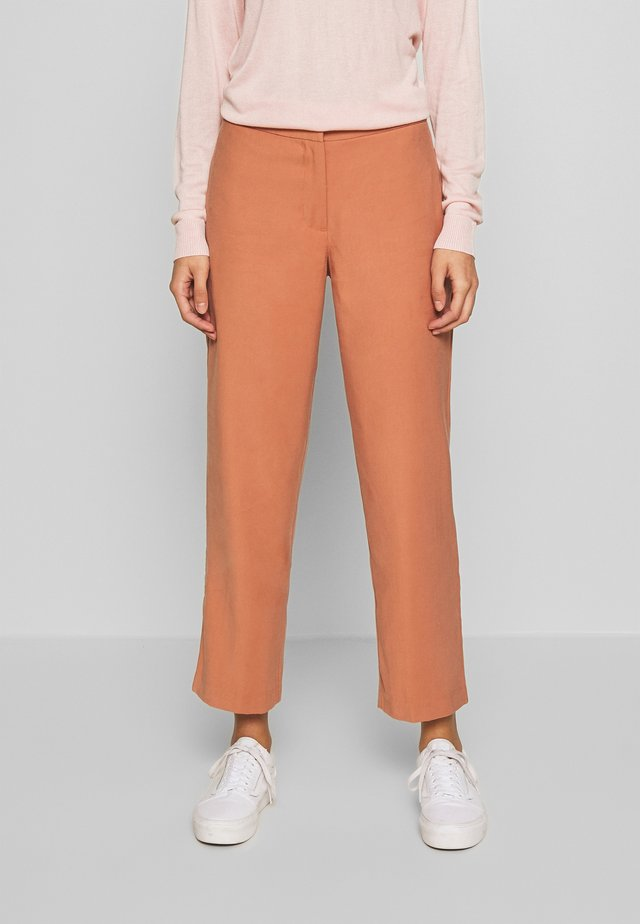VIFABERA 7/8 WIDE PANTS - Broek - copper brown