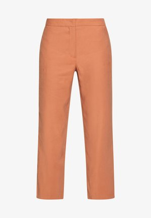 VIFABERA 7/8 WIDE PANTS - Kangashousut - copper brown