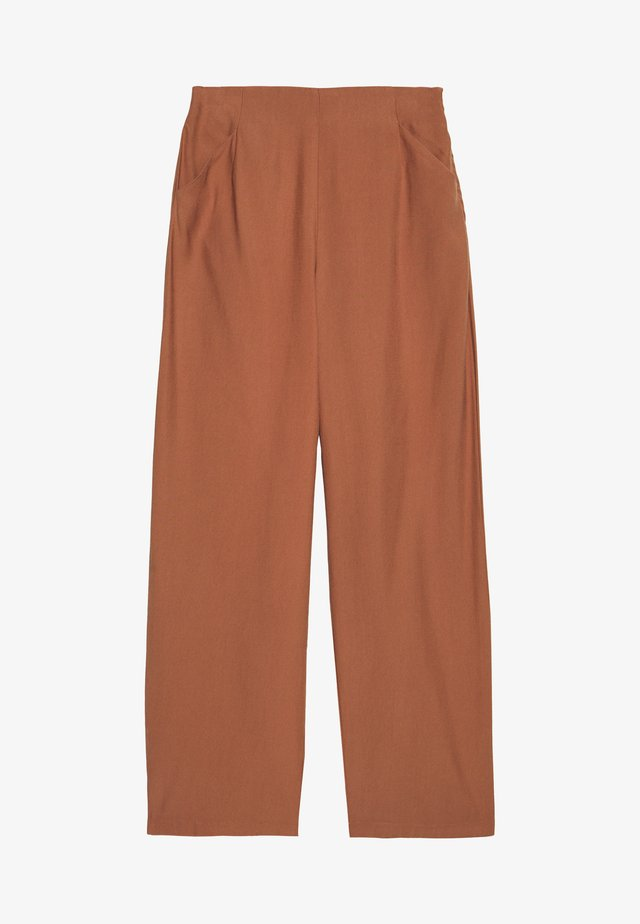 VIESTHER WIDE PANTS - Tygbyxor - rawhide