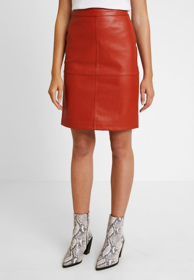 VIPEN NEW SKIRT - Pencil skirt - ketchup