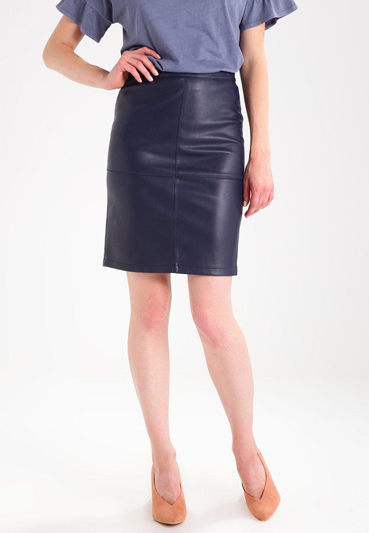Vila - VIPEN NEW SKIRT - A-line skirt - total eclipse