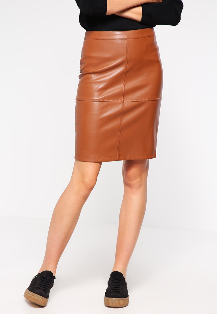 Vila - VIPEN NEW SKIRT - A-Linien-Rock - oak brown