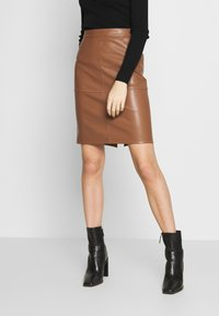 Vila - VIPEN NEW SKIRT - Jupe crayon - brown - 0