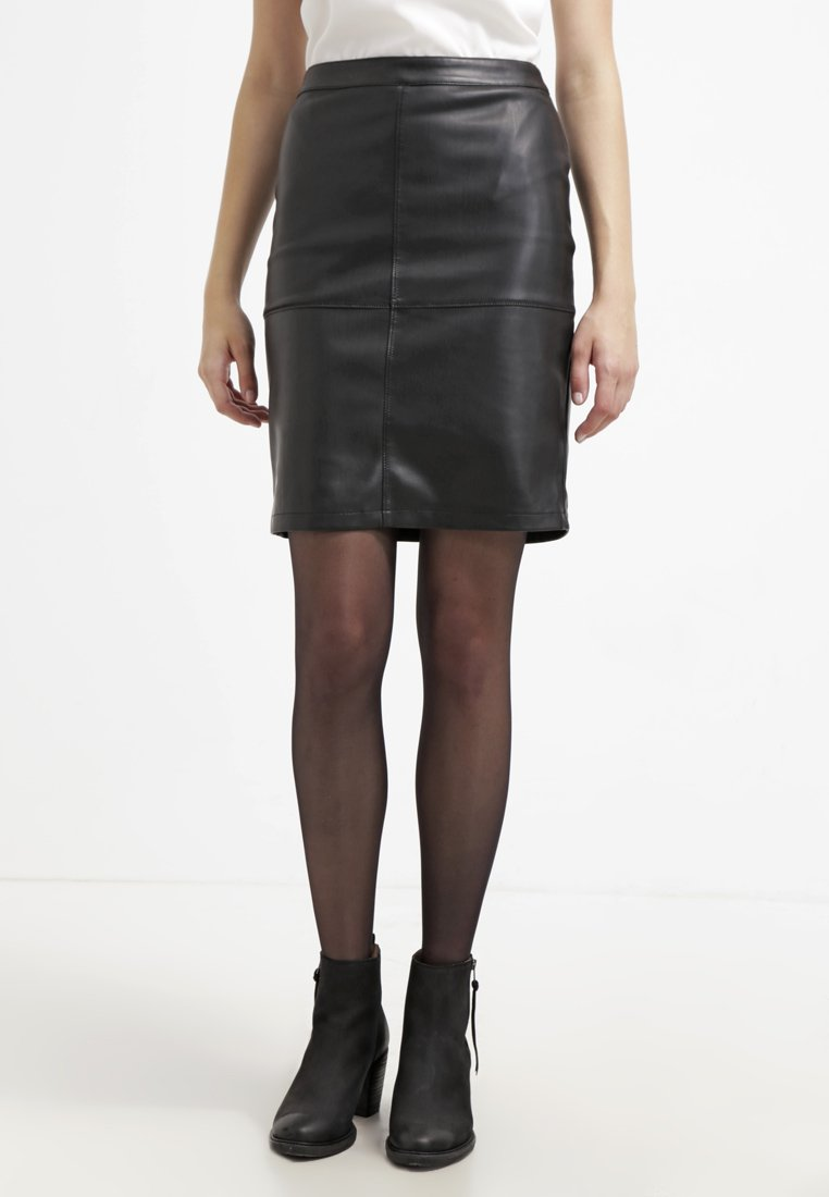 Vila - VIPEN NEW SKIRT - A-Linien-Rock - black