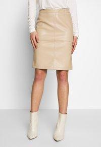 Vila - VIPEN NEW SKIRT - Pencil skirt - beige - 0