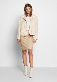 Vila - VIPEN NEW SKIRT - Pencil skirt - beige - 1