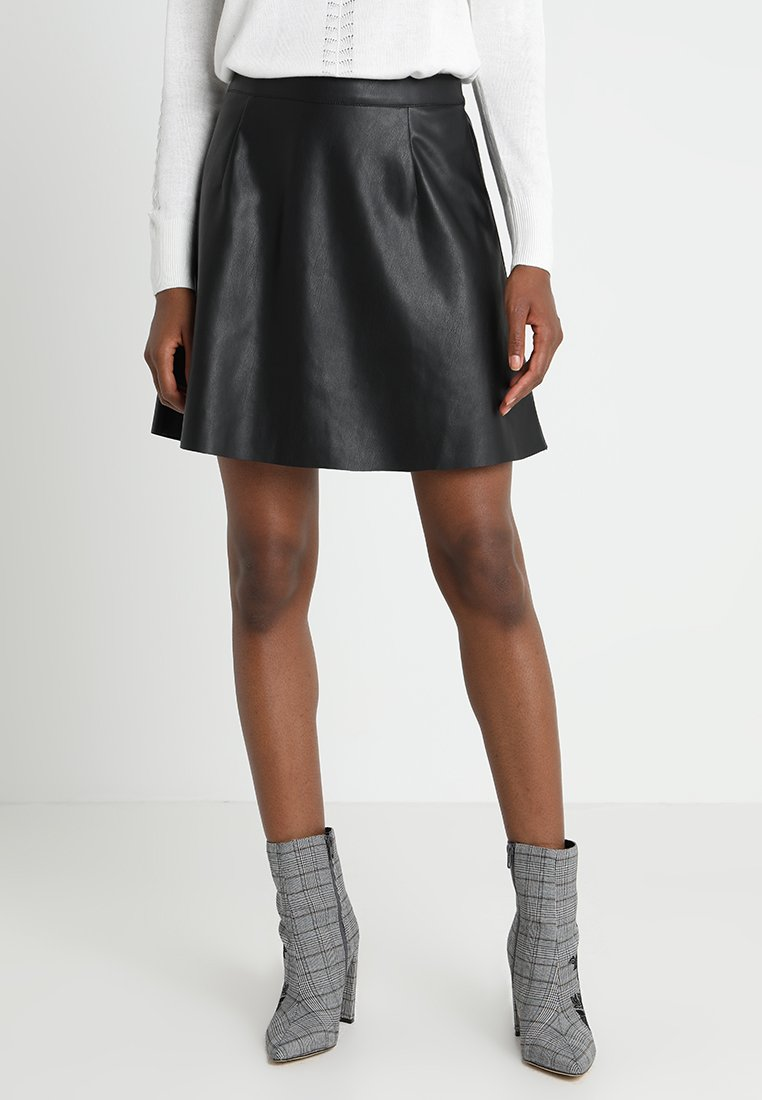 Vila - VIPEN SKATER  - A-line skirt - black