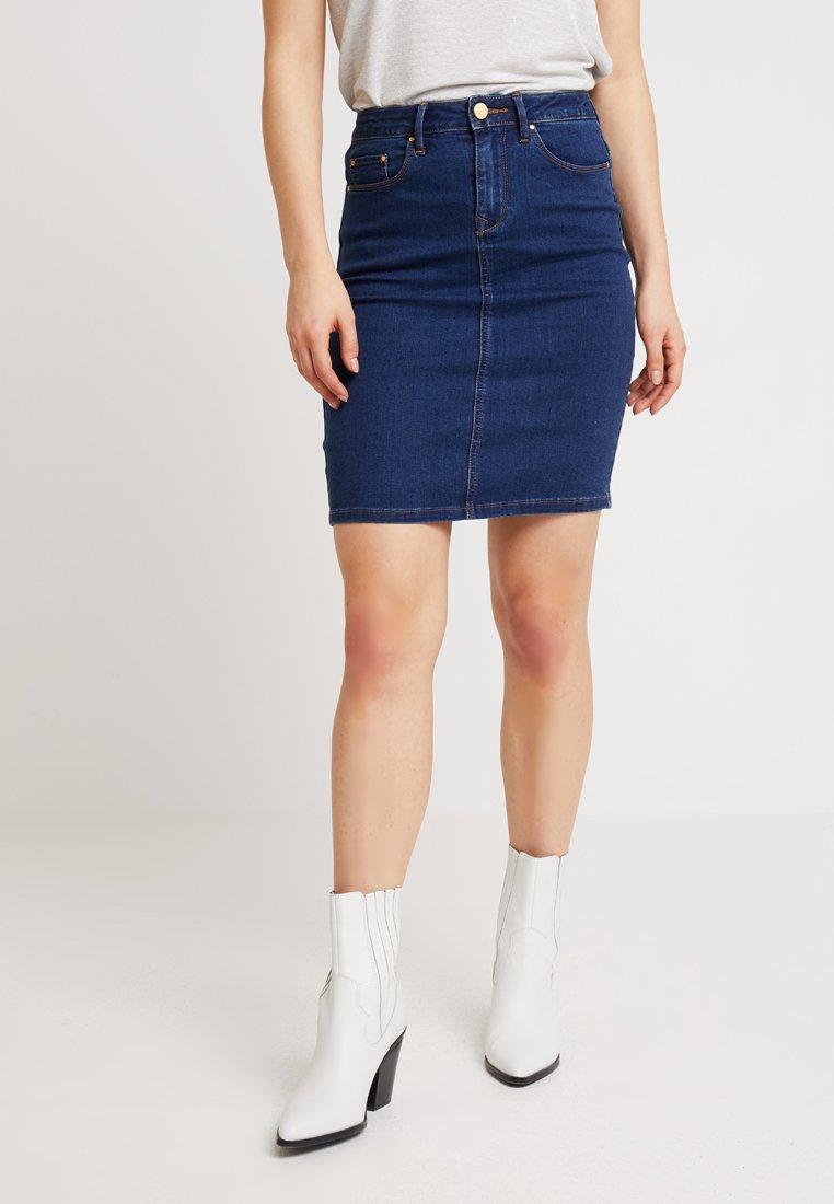 Vila - VICOMMIT FELICIA SHORT SKIRT - Gonna di jeans - medium blue denim