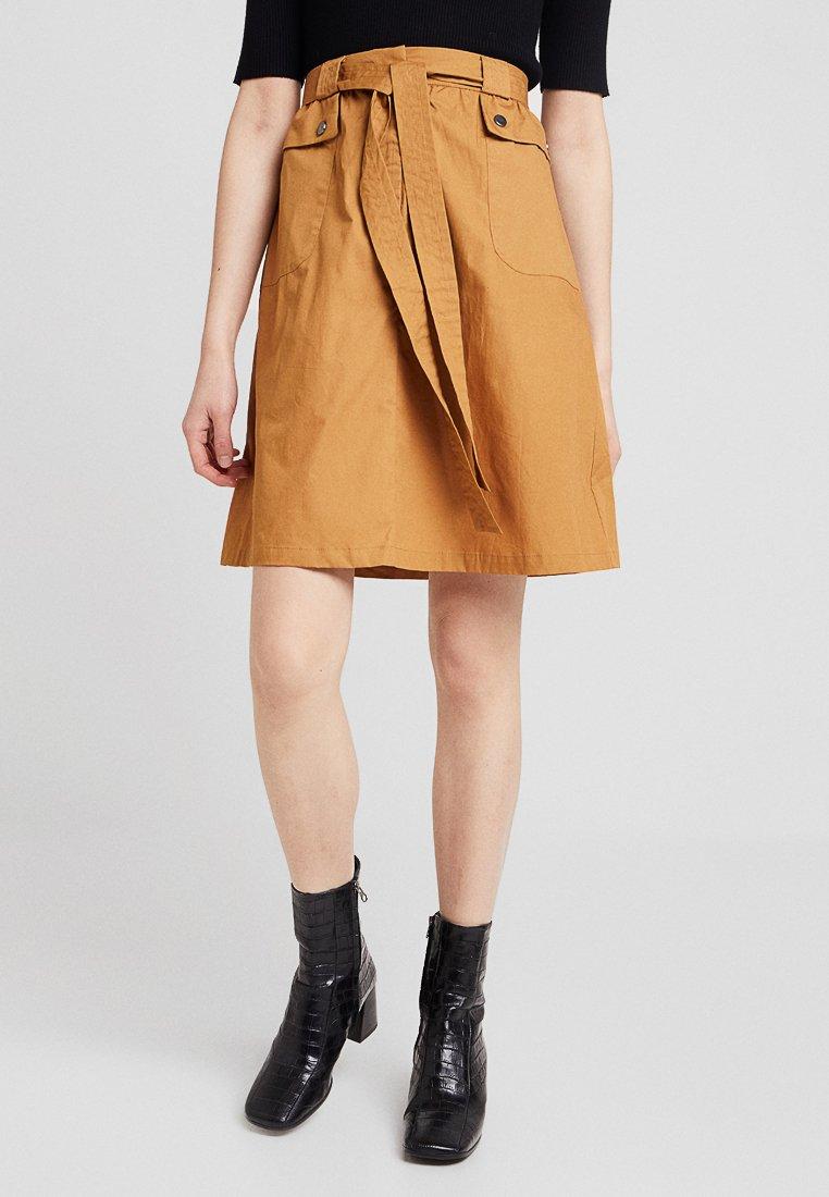 Vila - VINYALA SKIRT - A-line skirt - tobacco brown