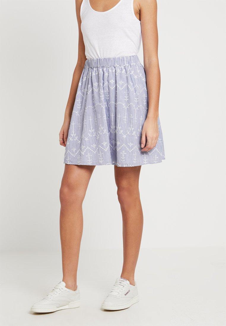 Vila - VILUXY SKIRT - A-line skirt - medium blue denim